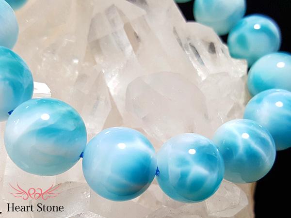 【限定1点・家宝級】超濃厚パーフェクトブルー!超大粒最高級ラリマー14-14.5mm