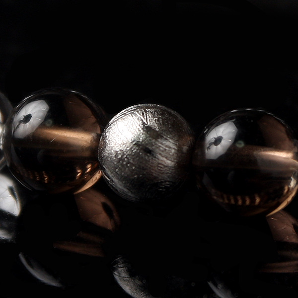 【宇宙からの贈り物】ギベオン隕石xラピスラズリMixブレス★Meteorite