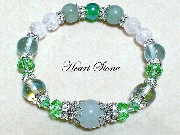 淡いグリーンの癒しカラー☆グリーンムーンストーン・翡翠使用!Healing Princess