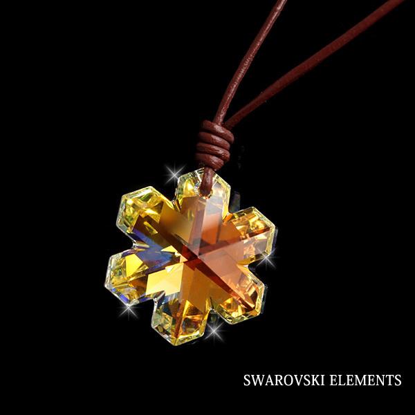スワロフスキー・エレメント【SWAROVSKI ELEMENTS】フラワーモチーフネックレス