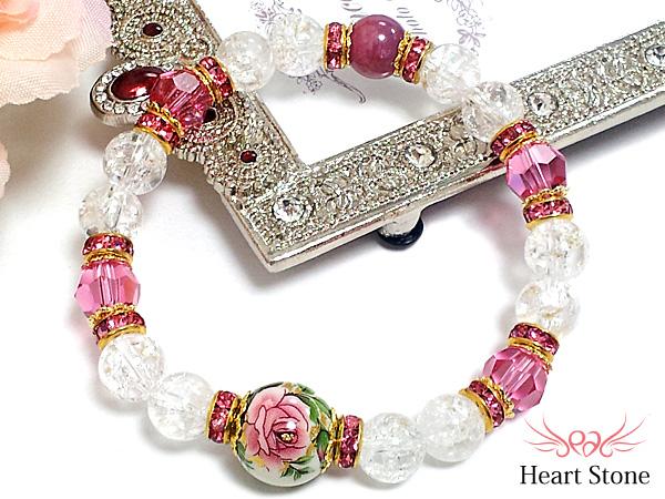 世界四大宝石ルビーと薔薇のとんぼ玉で魅せる姫系☆Elegante Rose