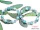 【アウトレット・限定2点】濃色ラリマー×宝石質アクアマリンデザインブレス◇ラリマー玉10.5mm