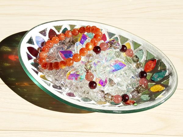 虹色の広がる影まで楽しめる浄化皿3点セット