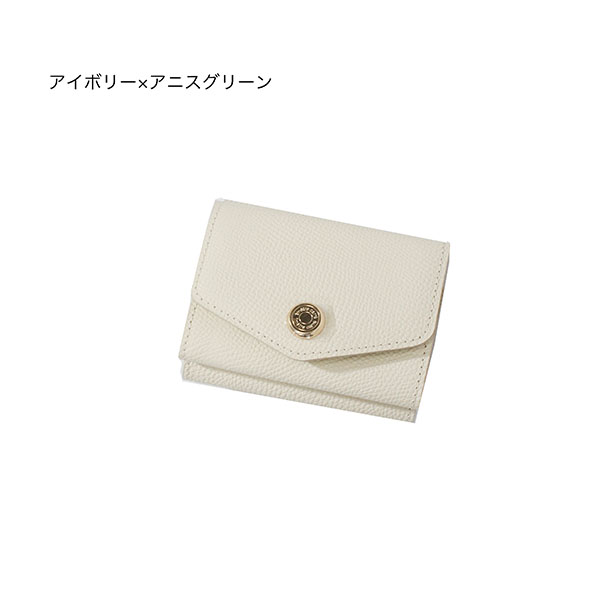 - ボタン型三つ折りミニウォレット-