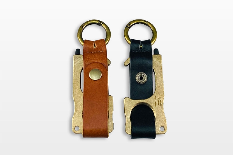 RUBATO&CO.  ルバートアンドコー<BR>GILD design エコブラス(R)製 鍛造アシストフック専用<BR>栃木レザーストラップ<BR>《ブラック》<BR>GM-352