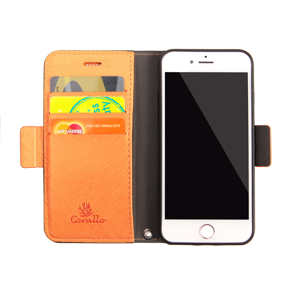Corallo<BR>Nu for iPhone6/iPhone6s/iPhone7/iPhone8<BR>《Black+Orange》<BR>CR_I47CSPLNU_BO
