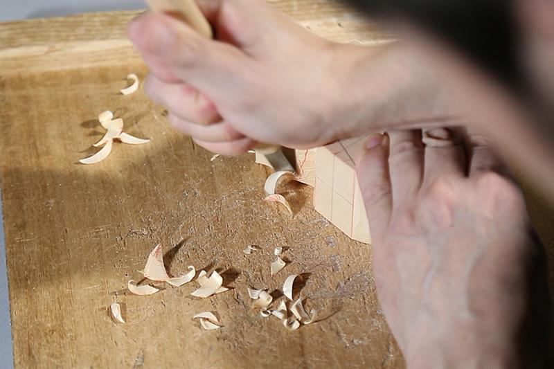 こころの木彫り「招福 うし」DVD+材料(Bセット)