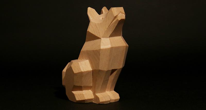 こころの木彫り「招福 いぬ」Aセット