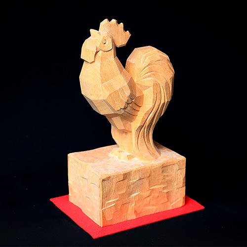 招福「鶏」  素材:楠