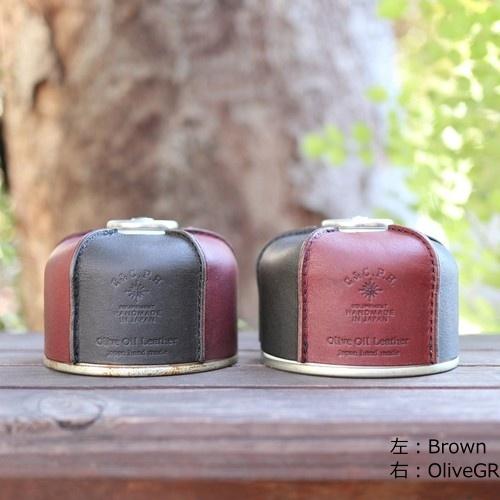 シーアンドシーピーエイチイクイップメント C&C.P.H. EQUIPEMENT  OD缶カバー ( Olive oil leather )