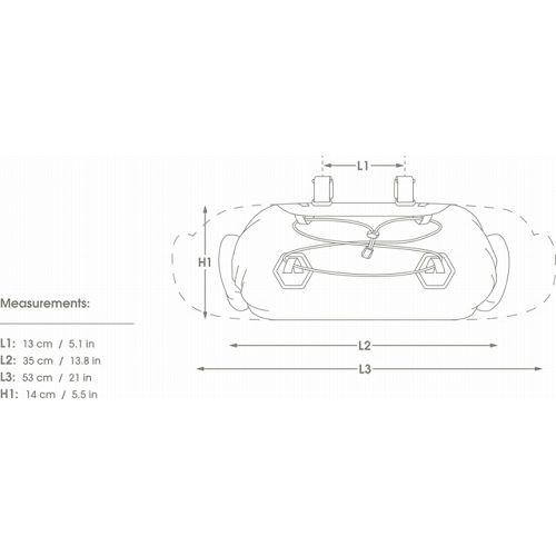 アピデュラ APIDURA Dryハンドルバーバッグ コンパクト 9L
