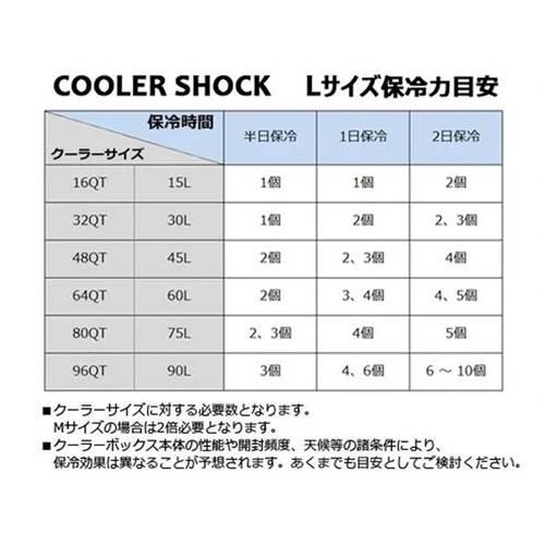 COOLER SHOCK クーラーショック Mサイズ