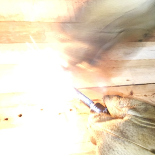 野良道具製作所 真鍮ハンドル メタルマッチ 「 野良スティック 」 極太13mm径 ストライカー1点付属