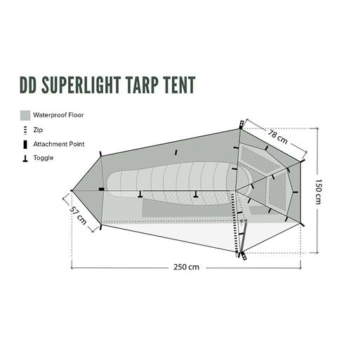 DDハンモック  DD SuperLight Tarp Tent
