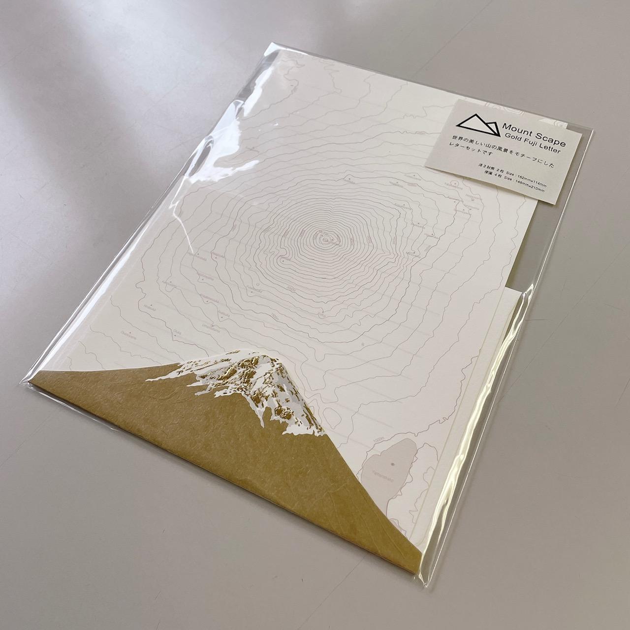 Mt Scape Gold Letter  <Gold Fuji>