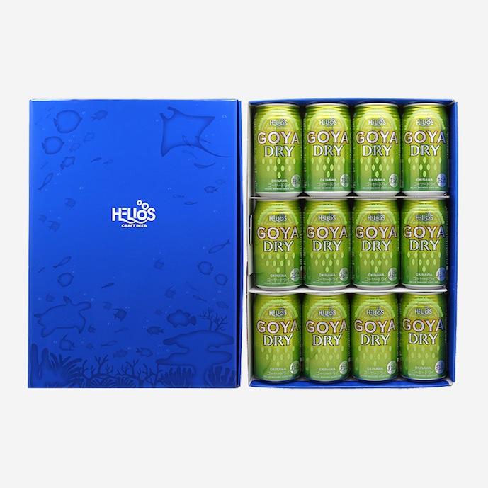 ★【ギフト箱入り】ゴーヤーDRY5%350ml(缶)×12本【ギフトセット】