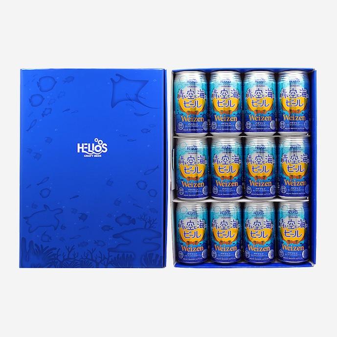 ★蔵元直送!!★【ギフト箱入り】青い空と海のビール5%350ml(缶)×12本【ギフトセット】
