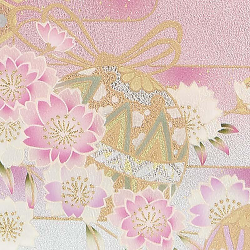 【etoffe】京都型友禅・手毬桜(てまりざくら)