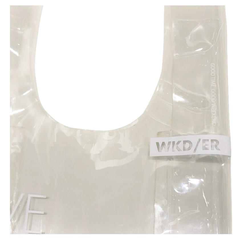 限定10倍ポイント!STORY掲載【WKD/ER】プラスティッククリアバッグ S(6種類)