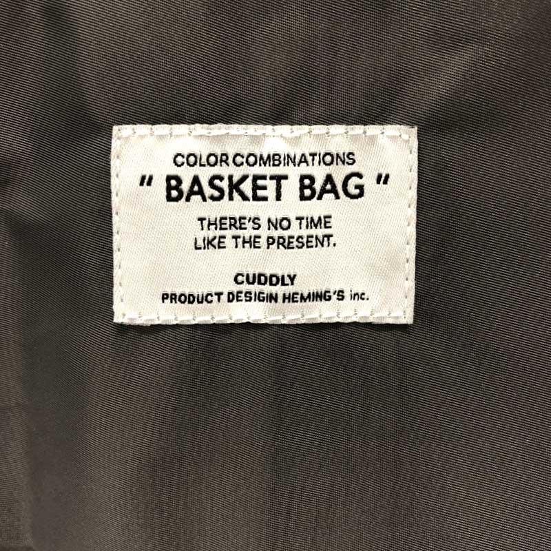 【2020AW】カラーコンビバスケットバッグ (5色)