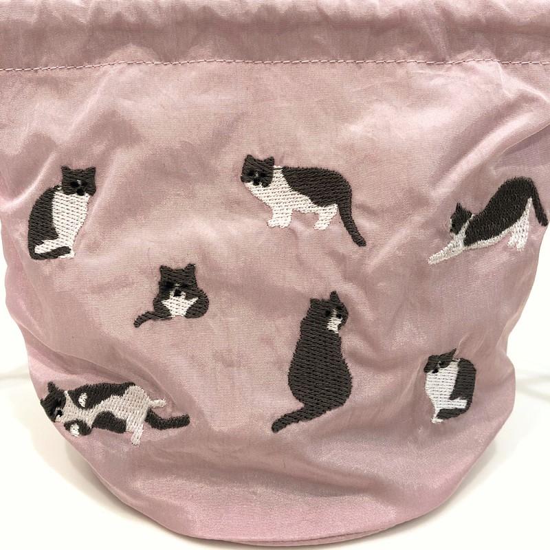 オンライン限定SALE!2020SS【JoliJoli】 メーキャップ巾着 Cat ねこ