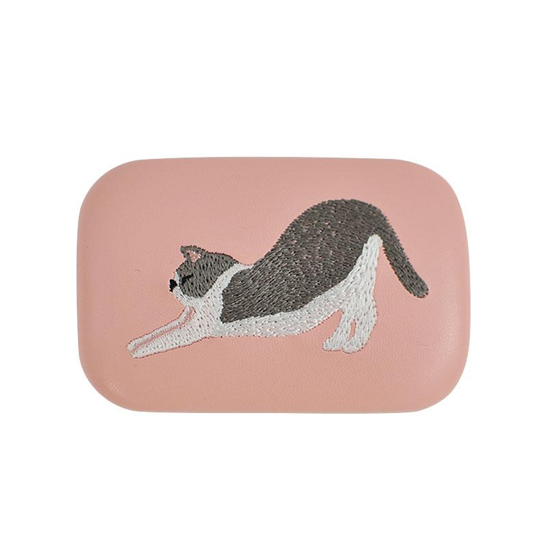 2020SS【JoliJoli】キャリング刺繍スクエアケース Cat ねこ
