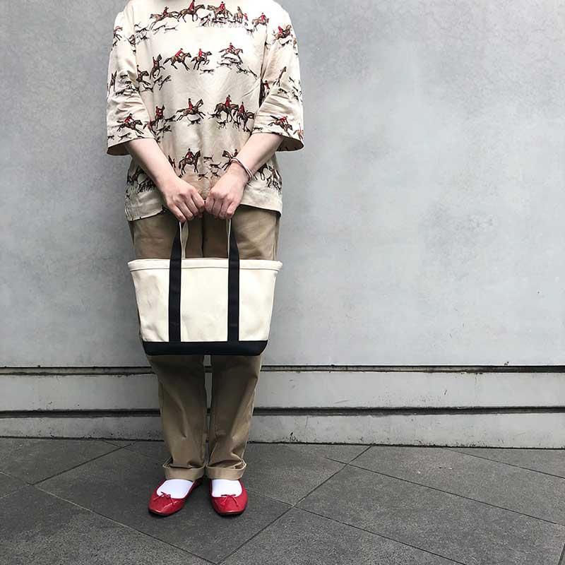 【2021秋冬新作】ベーシックカラートート コンビ(3色)仕切りバッグ