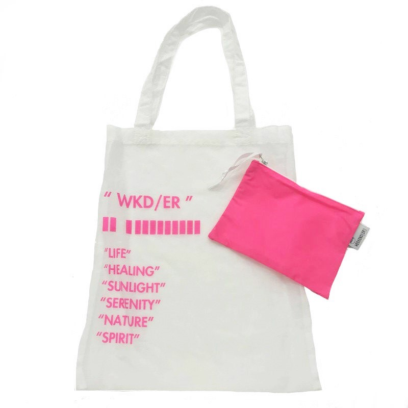 【WKD/ER】Thin fabric tote bag(7色)