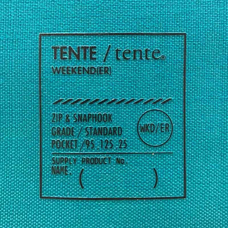限定10倍ポイント!【WKD/ER】 ZIP POCKET TENTE(6色)