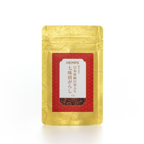 HEMPS 日本産麻の実入り 七味唐がらし 15g