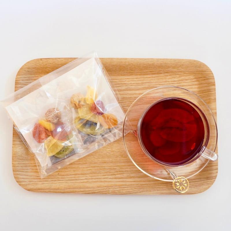 果実園のフルーツハーブティー[2回分]|ドライフルーツ ハーブティー メール便(250円)配送可