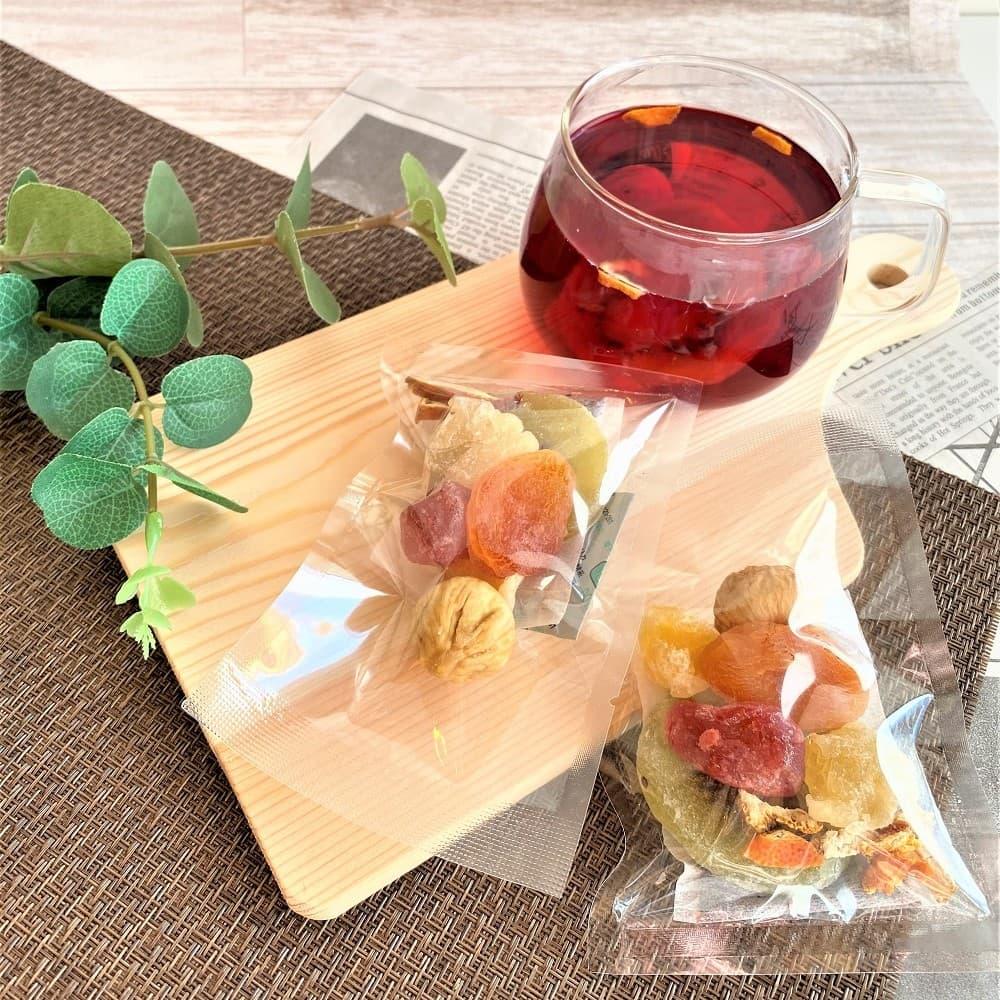 果実園のフルーツハーブティー 2個入ギフトセット|プレゼント用/ギフト用/ドライフルーツ ハーブティー
