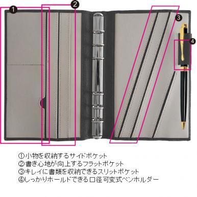 【A5】BindexA5 セオリア (ブラック)【ネコポス(メール便)不可】[AA96-1]