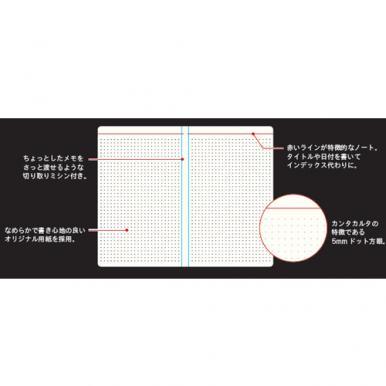 ペイジェム カンタカルタ ドットグリッドノートブック A5 スリム(ナイトシー)[PCCNB0103]