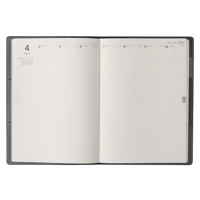 NOLTY エクリA5 メモ(ブラック,カーキ)[2022年1月:6322,6323]