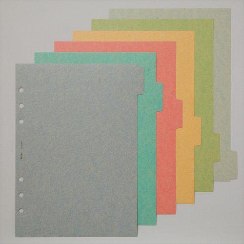 【A5】カラーインデックス ヨコ6 アースカラー[A5609]