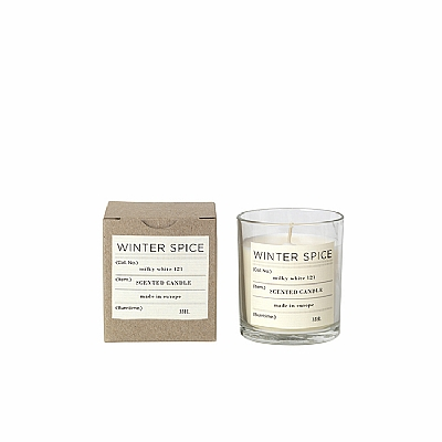 SCENTED CANDLE SOY WAX IN GLASS