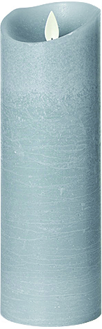 LED PILLAR CANDLE-DOVE GREY