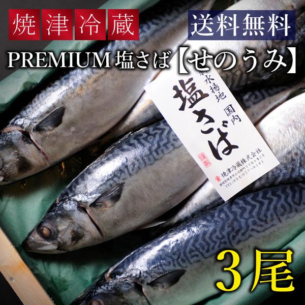 """焼津 PREMIUM 塩さば """"せのうみ"""" 【3尾】"""