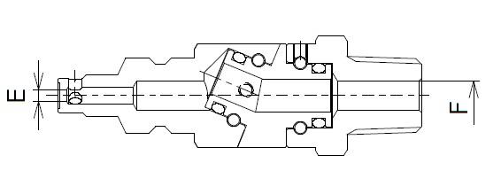 藤原産業 高圧ロータリフリープラグオネジ R1/4 (左ネジ) H-RFP-2M