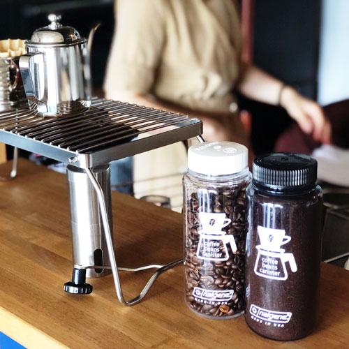 コーヒービーンズ キャニスター150g(0.5L)クリアWH