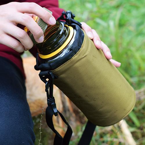 ボトルケース ショルダーベルト付き(1.0L)  カーキ