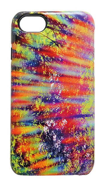 虹のカーテン・スマホケース 熱転写カバー型