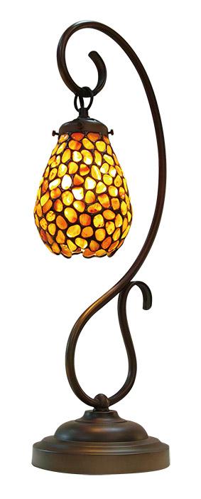 NOSSA 天然石ステンドグラス風ランプ Lエスベース