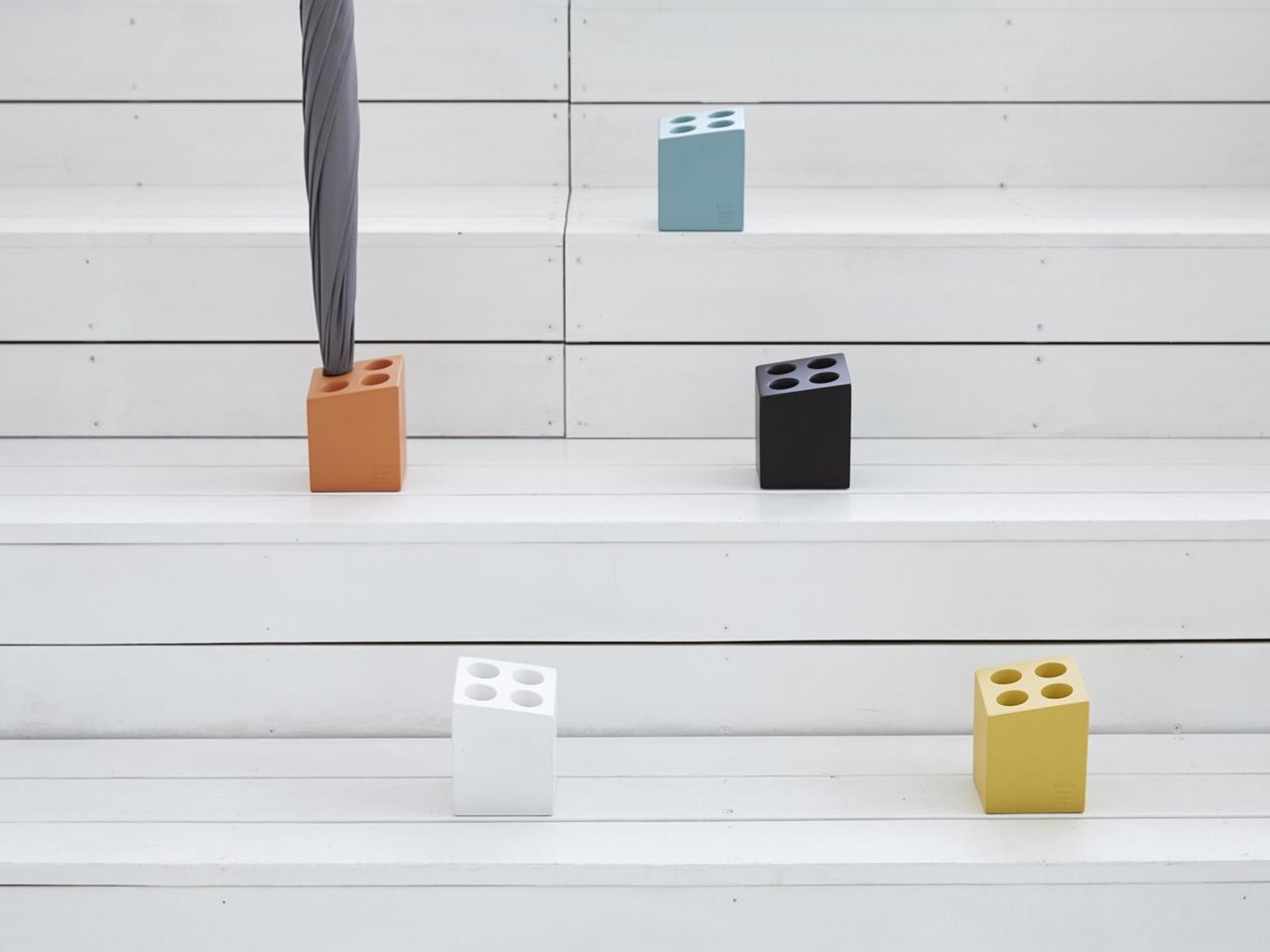 【mini cube】アンブレラスタンド ブラウン