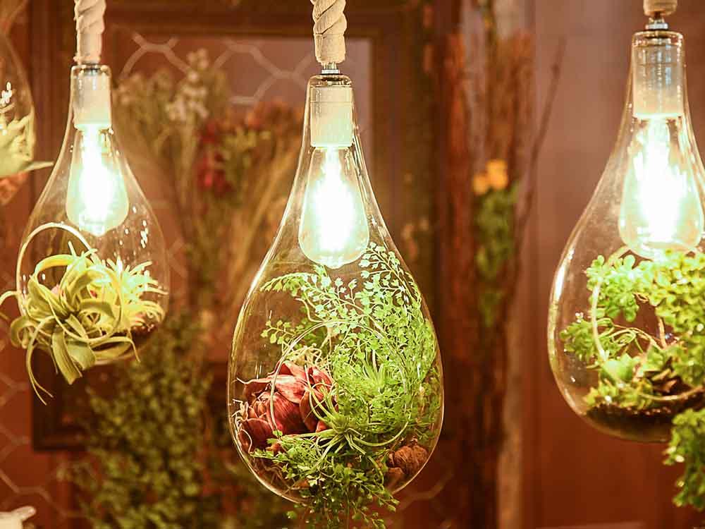 【Another Garden】BOTANIC ハンギングライト L フェイクグリーン付き(APE-020FGB)
