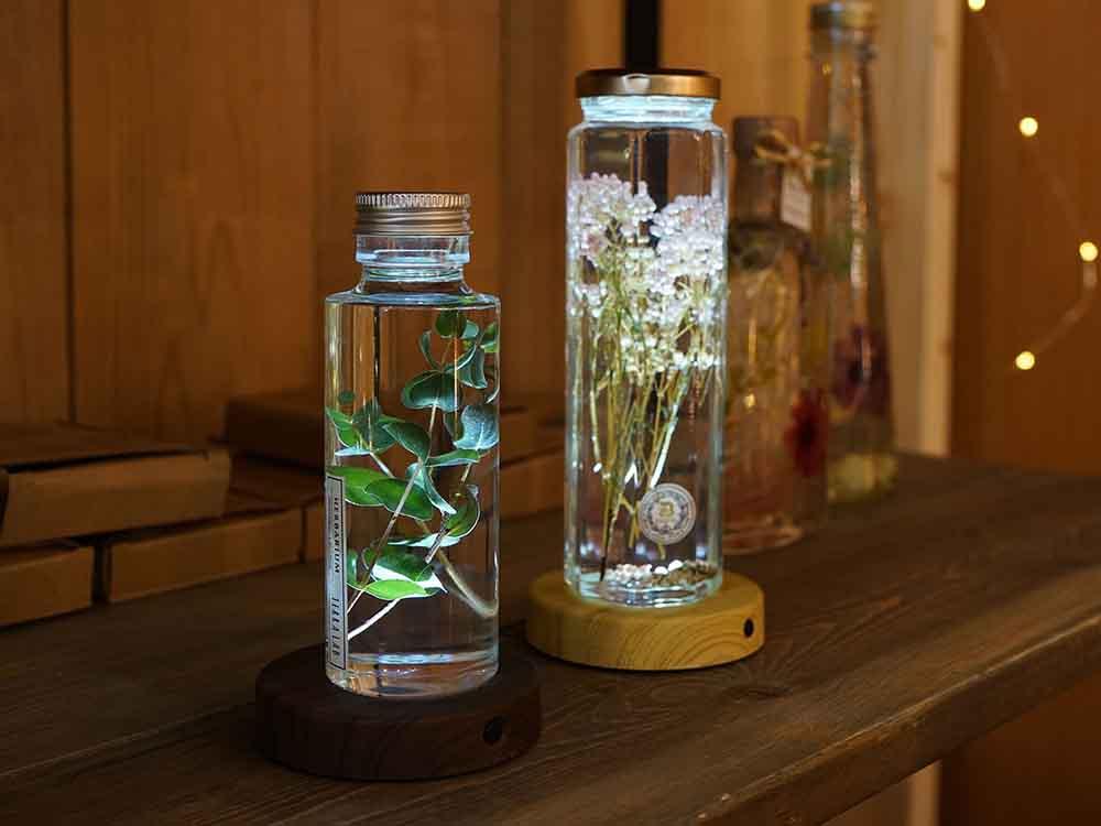 【Another Garden】BOTANIC LEDチャージングコースター ブラウン