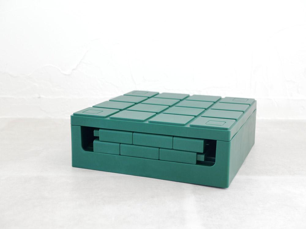 【Grid container】 グリッドコンテナー  キューブ グリーン