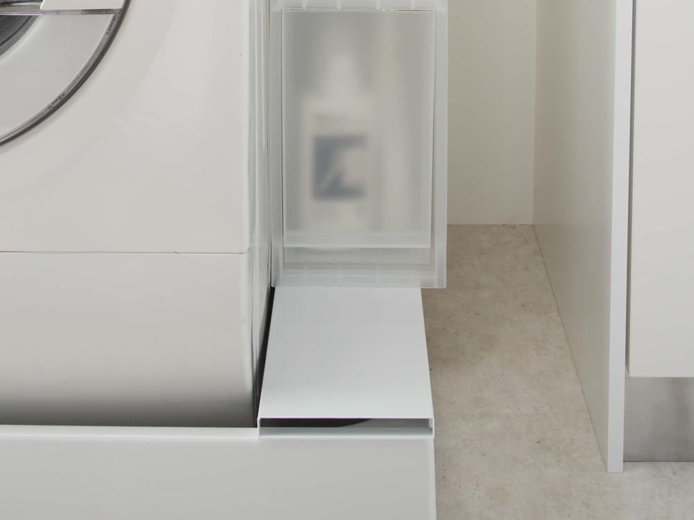 【tower】洗濯機防水パン上ラック ホワイト
