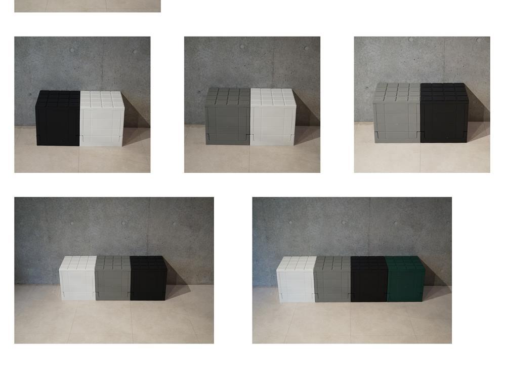 【Grid container】 グリッドコンテナー  キューブ ブラック